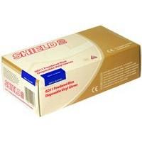 Shield Polypropylene Vinyl Gloves Blue Large Pack of 100 GD11