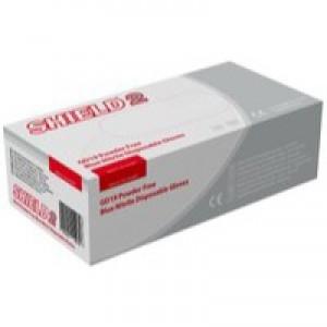 Shield Powder-Free Nitrile Gloves Blue Small Pk 100 Gd19
