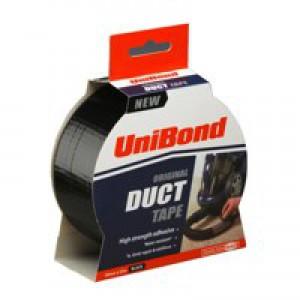 Unibond Duct Tape 50mm x25 Metres Black 1517009