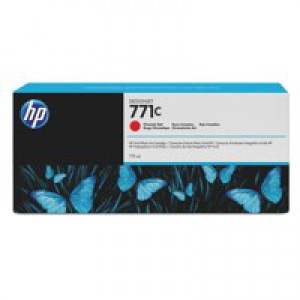 HP 771C Chromatic Red Deskjet Inkjet Cartridge  packed with 775ml of HP Vivid Photo ink (Single).