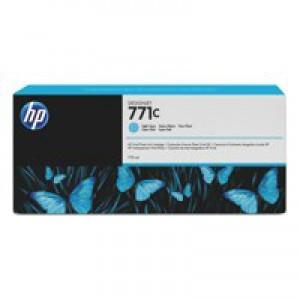 HP 771C Light Cyan Deskjet Inkjet Cartridge  packed with 775ml of HP Vivid Photo ink (Single).