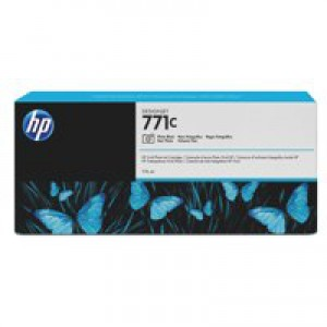 HP 771C Photo Black Deskjet Inkjet Cartridge  packed with 775ml of HP Vivid Photo ink (Single).