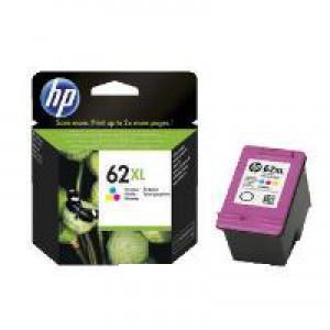 HP 62XL Cyan/Magenta/Yellow High Yield Original Ink Cartridge C2P07AE