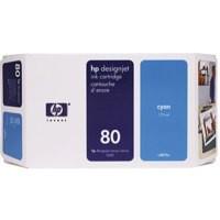 Hewlett Packard No80 Inkjet Cartridge 175ml Cyan C4872A
