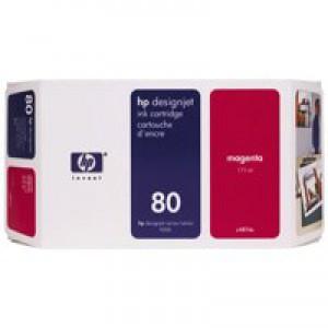 Hewlett Packard No80 Inkjet Cartridge 175ml Magenta C4874A