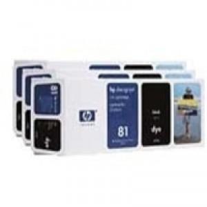 Hewlett Packard No81 Dye 3 Ink Multi-Pack Inkjet Cartridge Black C5066A