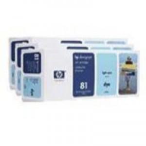 Hewlett Packard No81 Dye 3 Ink Multi-Pack Inkjet Cartridge Light Cyan C5070A