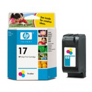 Hewlett Packard No17 3-Colour Inkjet Cartridge 15ml C6625A