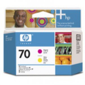 Hewlett Packard No70 Print Head Magenta Yellow C9406A