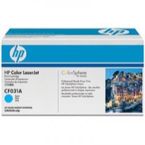 Hewlett Packard No646A Colour LaserJet Toner Cartridge Cyan CF031A