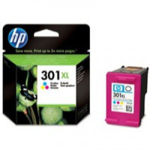 Hewlett Packard No301XL Ink Cartridge 3-Colour CH564EE
