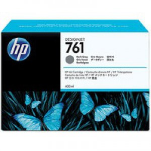 Hewlett Packard No761 Design Jet Inkjet Cartridge 400ml Dark Grey CM996A
