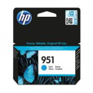 HP 951 Original Inkjet Cartridge Cyan CN050AE Pk1 CN050AE