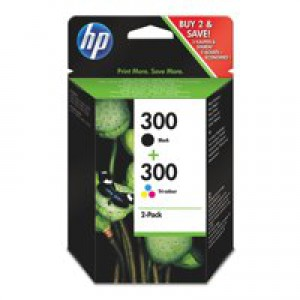 Hewlett Packard No300 Inkjet Cartridge Black/3-Colour CN637EE