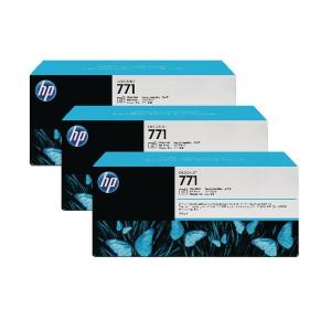 Hewlett Packard No771 Design Jet Inkjet Cartridge 775ml Pack of 3 Photo Black CR256A