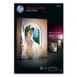 Hewlett Packard Photo Paper 300gsm Glossy A3 Pack of 20 CR675A