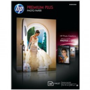 Hewlett Packard Photo Paper 300gsm Glossy 13x18 inches Pack of 20 CR676A