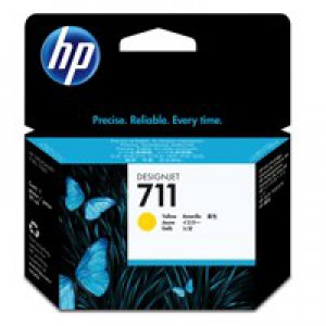 HP711 Yell Ink Cartridge 29ml CZ132A Pk1