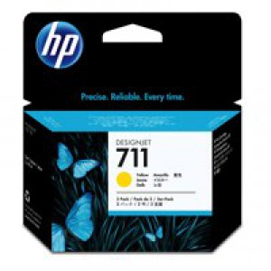 Hp711 Yell Ink Cart 3-Pk 29Ml Cz136A