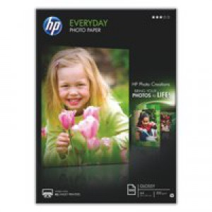 Hewlett Packard Everyday Photo Paper Gloss A4 70gsm White Pack of 100 Q2510A