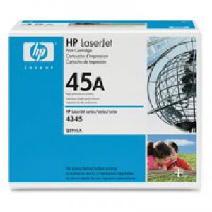 Hewlett Packard [HP] No. 45A Laser Toner Cartridge Page Life 18000pp Black Ref Q5945A