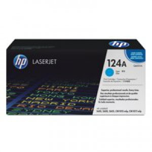 Hewlett Packard No124A LaserJet Toner Cartridge Cyan Q6001A