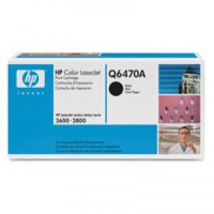 Hewlett Packard No501A LaserJet Toner Cartridge Black Q6470A