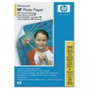 Hewlett Packard Advanced Glossy Photo Paper 250gsm 10x15cm Borderless Pack of 60 Q8008A