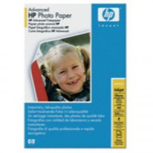 Hewlett Packard Advanced Glossy Photo Paper 250gsm A4 Pack of 50 Q8698A