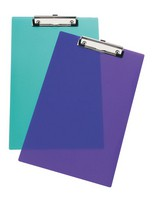 Rapesco Frosted Transparent Clipboard Assorted SHPPCBAS