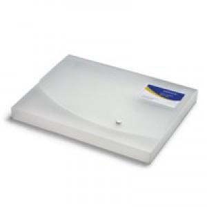 Rapesco A4+ Rigid Wallet/Box File 25mm Clear 0708