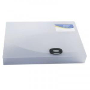 Rapesco A4+ Rigid Wallet/Box File 40mm Clear 0711