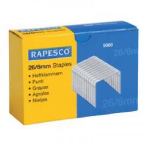 Rapesco Staples 6mm 26/6 Pack of 5000