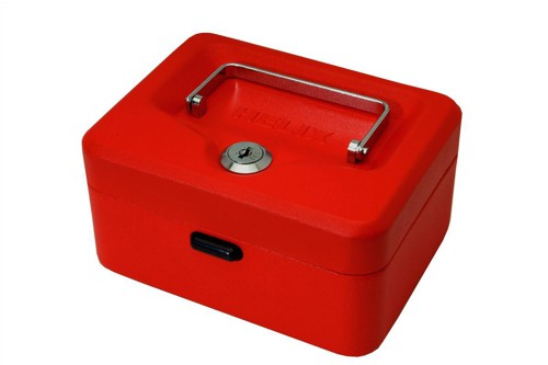 Helix Value Cash Box 6 inch Red WN6060