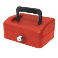 Image for Helix 150mm Sloping Lid Cash Box Red WA6060
