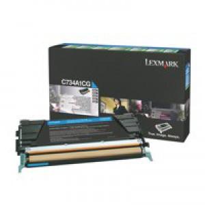 Lexmark C734DN Return Programme Toner Cartridge 6K Cyan C734A1CG