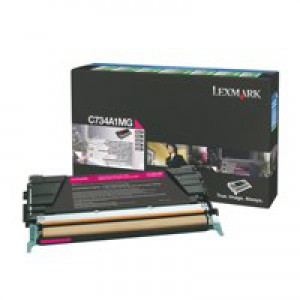 Lexmark C734DN Return Programme Toner Cartridge 6K Magenta C734A1MG