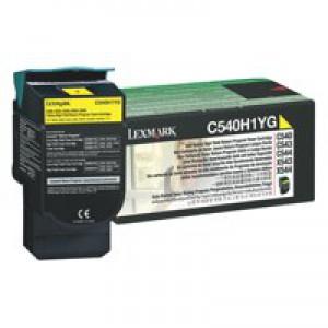 Lexmark High Yield Return Programme Toner Yellow C540H1YG