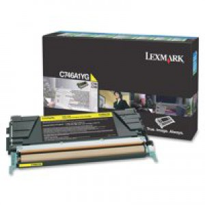 Lexmark C746 Return Programme Toner Cartridge Yellow C746A1YG