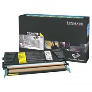 Lexmark C524/C534 Return Programme Toner Cartridge High Yield Yellow C5240YH