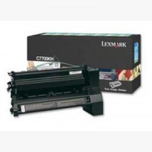 Lexmark C770 Return Programme High Yield Toner Cartridge Black C7700KH