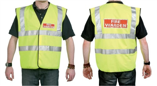IVG Fire Warden Vest High Visibility Yellow with Fire Warden Reflective Logo Ref IVGSFWV