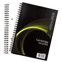 Cambridge Recycled A5 Wirebound Notebook 100 Pages 400020509