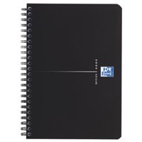Oxford Office Smart A5 Wirebound Notebook Soft Cover Black 100103627