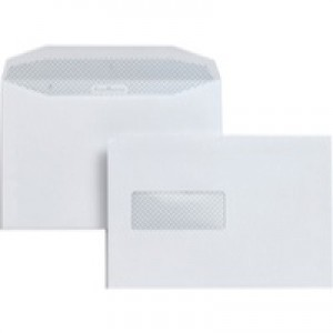Postmaster Envelope C5 162x238mm High Window White Pack of 500 A29984