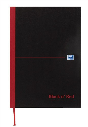 Black n Red Book Casebound 90gsm Ruled Indexed A-Z 192pp A6 Ref 100080431 [Pack 5]