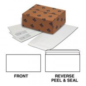 Basildon Bond Watermarked Envelope DL White Peel and Seal Pk 500 C80116