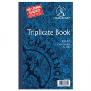Challenge Carbonless Triplicate Book 210x130mm Ruled Feint 100080445
