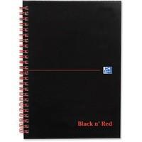 Oxford Black n Red  A5+ Matt Wirebound Notebook 140 Pages Ruled Feint 846354906