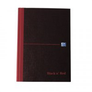 Black n' Red Casebound Notebook 192 Pages A5 Ruled Feint 100080459
